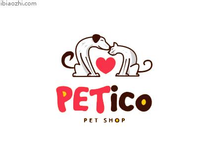 Petico宠物店标志