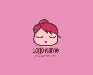 卡通女孩头像标志LOGO