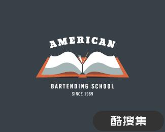 美国调酒学校标志