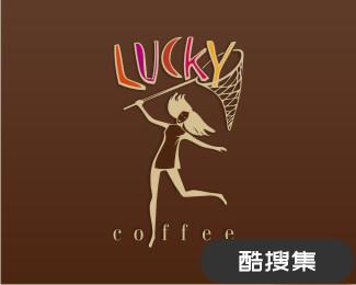 幸运咖啡馆标志设计