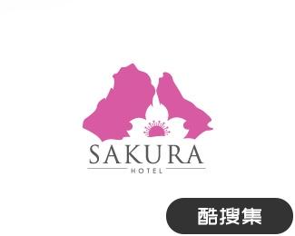 樱花酒店标志设计