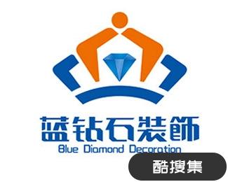 蓝钻石装饰标志