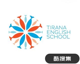 地拉那英语学校标志