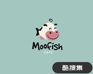 moofish咖啡厅logo