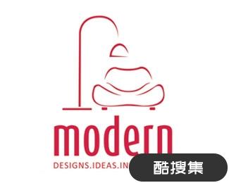 现代室内设计标志设计logo