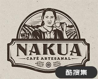 Nakua咖啡馆标志设计