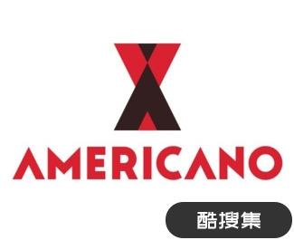 Americano美式咖啡标志设计