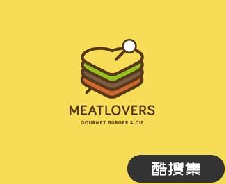美食恋人餐饮集团标志设计