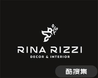 RINA RIZZI室内装饰公司标志设计