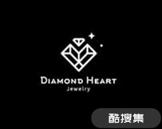 DiamondHeart珠宝品牌标志设计