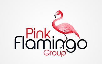 粉红火烈鸟标识标志LOGO