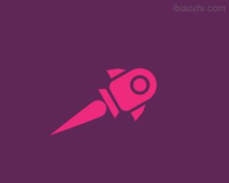 火箭营销机构标志LOGO